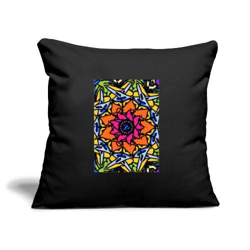 Psychedelic kaleidoscope #1 - Sofa pillowcase 17,3'' x 17,3'' (45 x 45 cm)