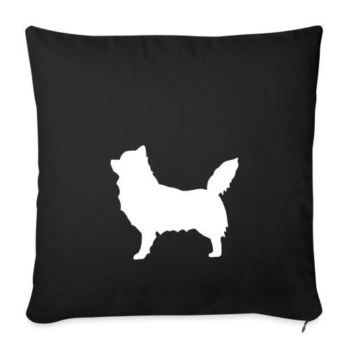 Chihuahua pitkakarva valkoinen - Sohvatyynyn päällinen 45 x 45 cm