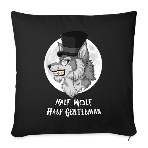 Half Wolf Half Gentleman - Sofa pillowcase 17,3'' x 17,3'' (45 x 45 cm)