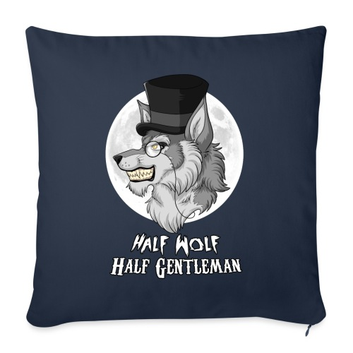 Half Wolf Half Gentleman - Sofa pillowcase 17,3'' x 17,3'' (45 x 45 cm)