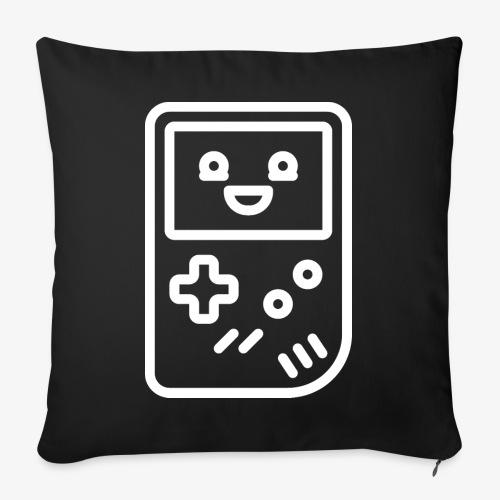 Smiling game console (white) - Sofa pillowcase 17,3'' x 17,3'' (45 x 45 cm)