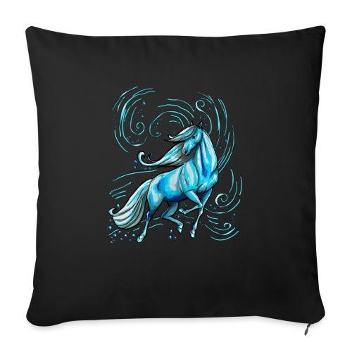 Blaues Wasserpferd - Sofakissenbezug 44 x 44 cm
