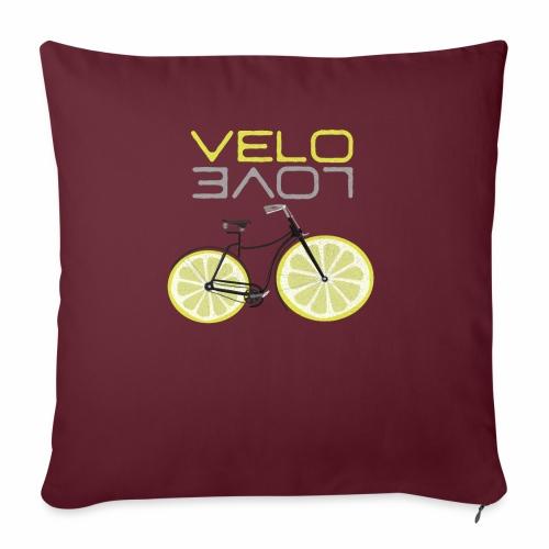 Lemon Bike Shirt Velo Love Shirt Radfahrer Shirt - Sofakissenbezug 44 x 44 cm