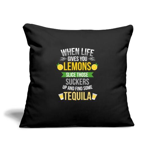 Tequila - When life gives you lemons - Sofa pillowcase 17,3'' x 17,3'' (45 x 45 cm)