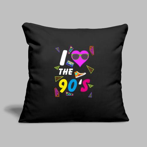 90s Love Mixtape Turnschuh Kostüm bunte Farben - Sofakissenbezug 44 x 44 cm