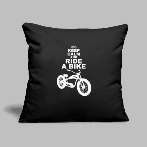 keep Calm and Ride a Bike Geschenkidee - Sofakissenbezug 44 x 44 cm
