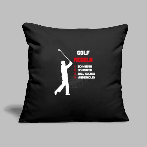 Golfregeln Golfball Golfschläger Abschlag lustig - Sofakissenbezug 44 x 44 cm