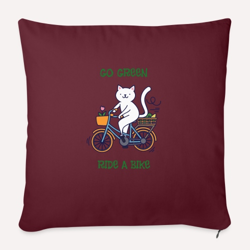 Caring About Climate Change? Go Green Ride A Bike - Sofa pillowcase 17,3'' x 17,3'' (45 x 45 cm)