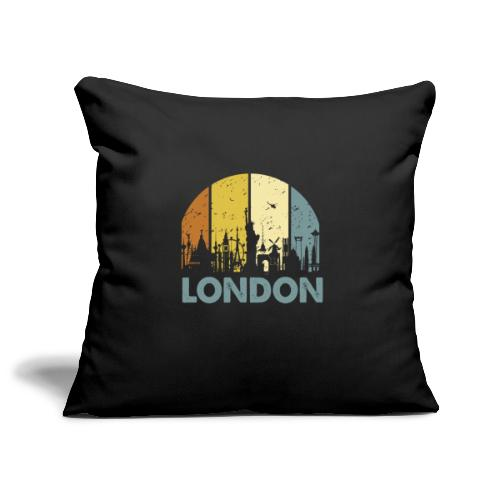 Vintage London Souvenir - Retro Skyline London - Sofakissenbezug 44 x 44 cm