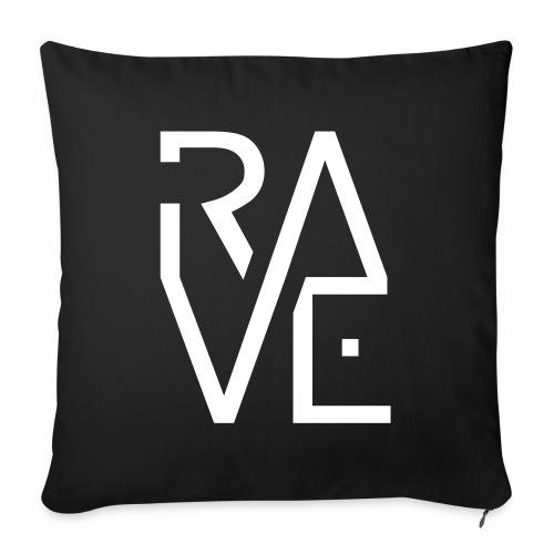 Rave Minimal Text Electronic Music Techno Schrift - Sofakissenbezug 44 x 44 cm