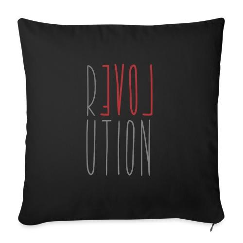 Love Peace Revolution - Love Peace Statement - Sofa pillowcase 17,3'' x 17,3'' (45 x 45 cm)