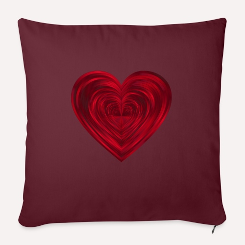 Love Heart Print T-shirt design - Sofa pillowcase 17,3'' x 17,3'' (45 x 45 cm)