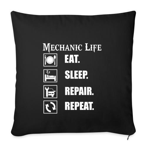Das Leben als Mechaniker ist hart! Witziges Design - Sofakissenbezug 44 x 44 cm