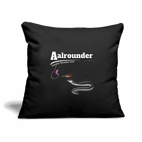 Aalrounder - Aal flexibel Angeln - Fishy Worm - Sofakissenbezug 44 x 44 cm