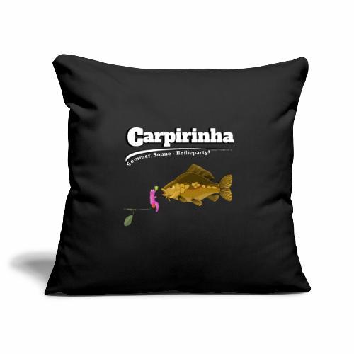 Carpirinha - Karpfen Angeln - Fishyworm - Sofakissenbezug 44 x 44 cm