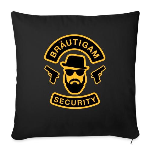 Bräutigam Security - JGA T-Shirt - Bräutigam Shirt - Sofakissenbezug 44 x 44 cm
