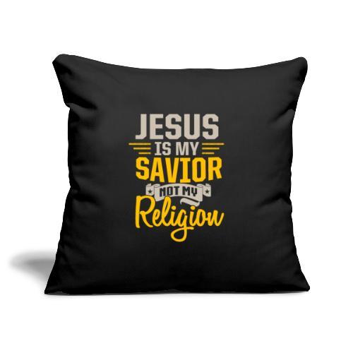 Jesus ist mein Erlöser - Sofakissenbezug 44 x 44 cm