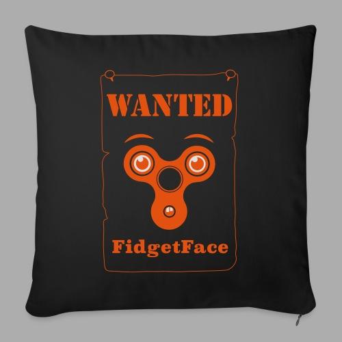 Fidget Spinner Face Wanted - Sofa pillowcase 17,3'' x 17,3'' (45 x 45 cm)