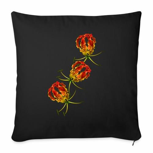 Flame Lily x 3 - Sofa pillowcase 17,3'' x 17,3'' (45 x 45 cm)