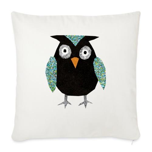 Collage mosaic owl - Sofa pillowcase 17,3'' x 17,3'' (45 x 45 cm)