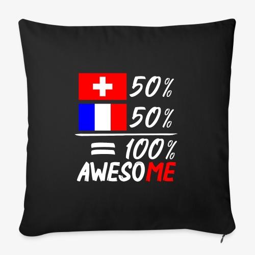 50% Schweiz 50% Frankreich - Sofakissenbezug 44 x 44 cm
