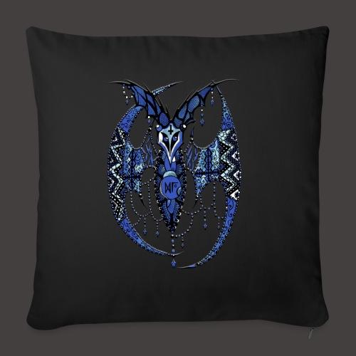 Chauve Souris Dentelle Bleue - Housse de coussin décorative 45x 45cm