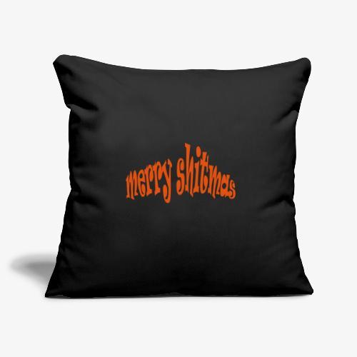 Foute kerst T-shirt Merry Shitmas - Sierkussenhoes, 45 x 45 cm