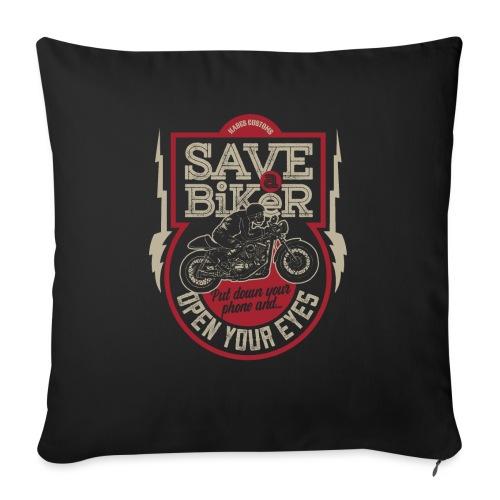 Save A Biker - Sofa pillowcase 17,3'' x 17,3'' (45 x 45 cm)