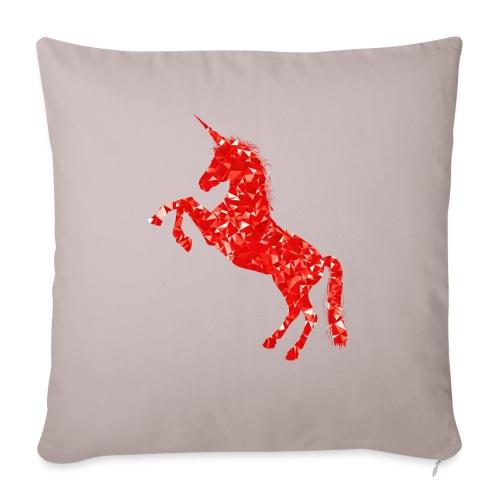 unicorn red - Poszewka na poduszkę 45 x 45 cm