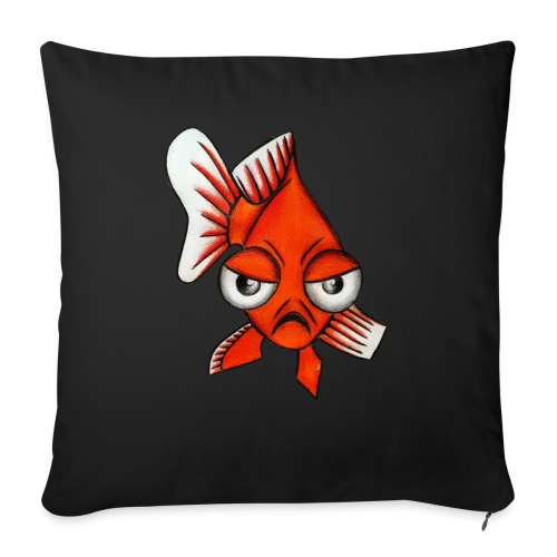 Angry Fish - Housse de coussin décorative 45x 45cm