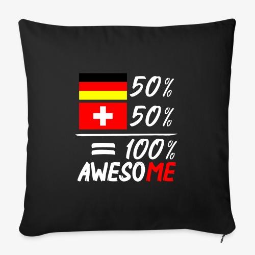 50% Deutsch 50% Schweiz - Sofakissenbezug 44 x 44 cm