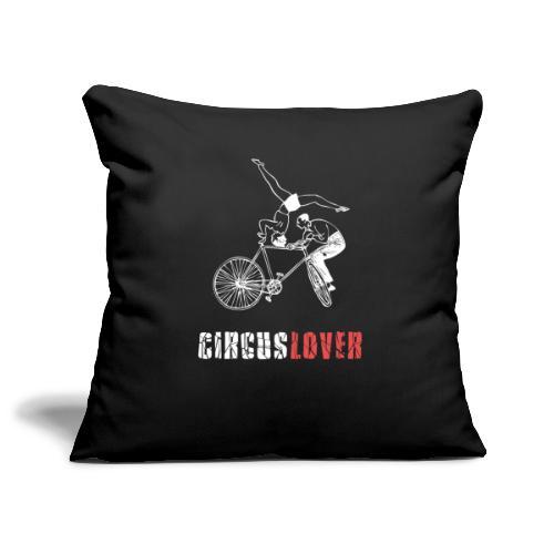 Circuslover - Acro bicycle - Copricuscino per divano, 45 x 45 cm