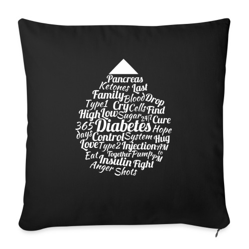 CURE DIABETES - Sofa pillowcase 17,3'' x 17,3'' (45 x 45 cm)