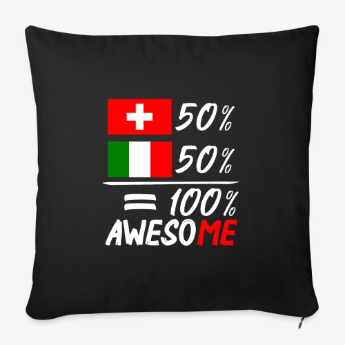 50% Schweiz 50% Italien - Sofakissenbezug 44 x 44 cm