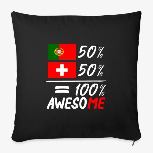 50% Portugal 50% Schweiz - Sofakissenbezug 44 x 44 cm