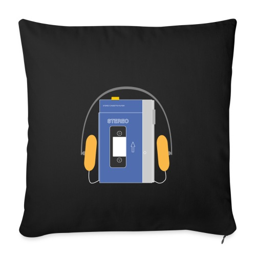 Stereo walkman in blue - Sofa pillowcase 17,3'' x 17,3'' (45 x 45 cm)