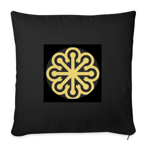 BGLogoGOLD - Sofa pillowcase 17,3'' x 17,3'' (45 x 45 cm)