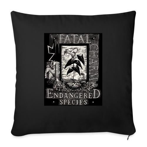 fatal charm - endangered species - Sofa pillowcase 17,3'' x 17,3'' (45 x 45 cm)