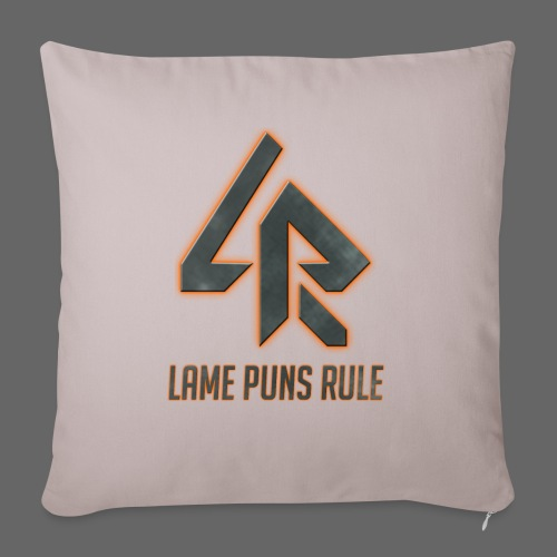 Lame Puns Rule: Logo - Sofa pillowcase 17,3'' x 17,3'' (45 x 45 cm)