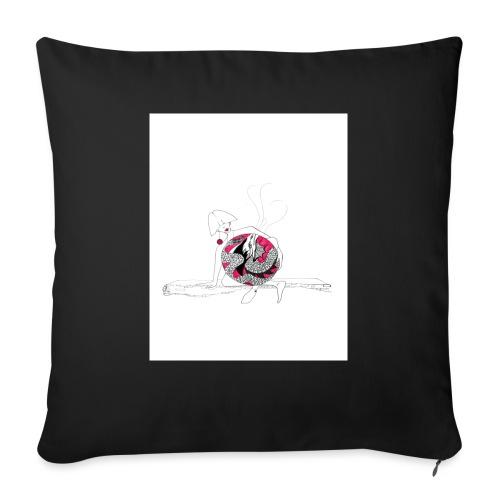 red lady - Sofa pillowcase 17,3'' x 17,3'' (45 x 45 cm)