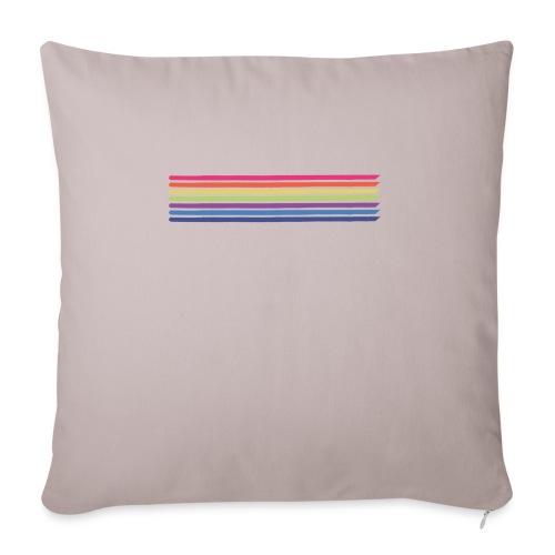 Colored lines - Sofa pillowcase 17,3'' x 17,3'' (45 x 45 cm)