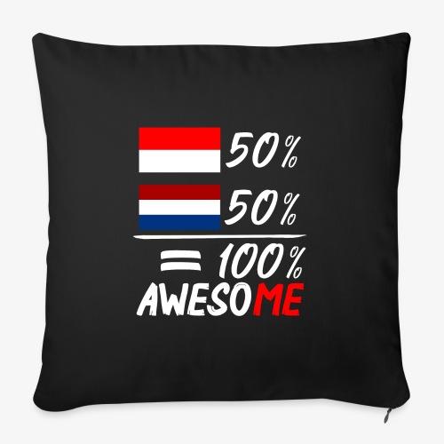 50% Nederland 50% Indonesië - Sofakissenbezug 44 x 44 cm
