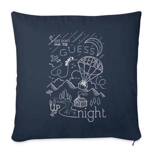 Up at Night lil smaller - Sofa pillowcase 17,3'' x 17,3'' (45 x 45 cm)
