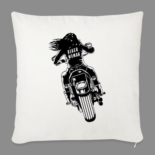 Biker Woman - Funda de cojín, 45 x 45 cm