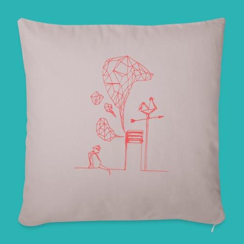 Carta_gatta_pink-png - Copricuscino per divano, 45 x 45 cm