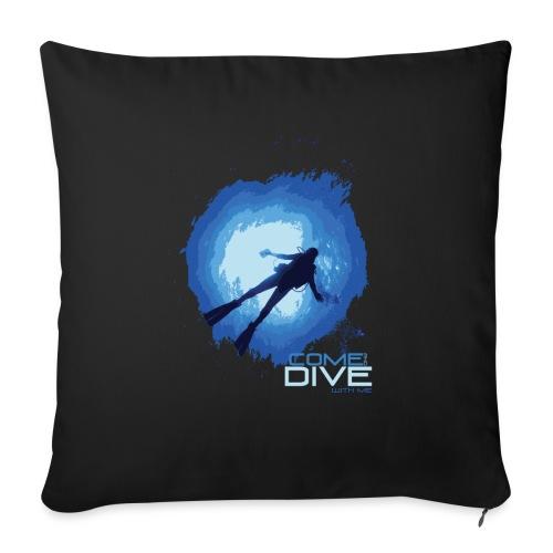 Come and dive with me - Poszewka na poduszkę 45 x 45 cm