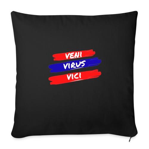 veni-virus-vici - Copricuscino per divano, 45 x 45 cm
