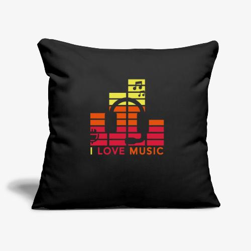 I love music Illustration Gig Band Musik Godigart - Sofakissenbezug 44 x 44 cm