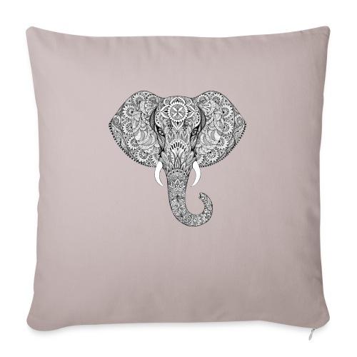 Elephant - Housse de coussin décorative 45x 45cm