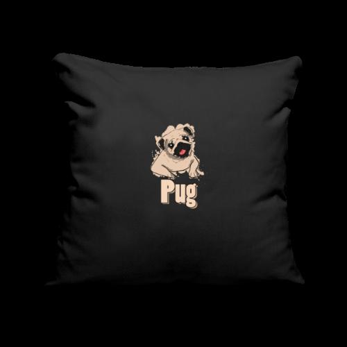 Mops | süß Hund Welpe - Sofakissenbezug 44 x 44 cm